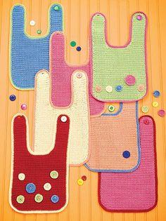 download a FREE pattern every day. ~ Bib | Crochet Stash .Tumblr .Com