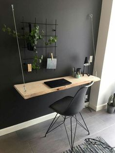 37 modern DIY computer desk ideas for your home office Jessica Paster - 37 mod . - 37 Modern DIY Computer Desk Ideas For Your Home Office Jessica Paster – 37 Modern DIY Computer De - Office Interior Design, Home Office Decor, Office Interiors, Bedroom Office, Diy Office Desk, Diy Desk, Diy Interior, Small Home Office Desk, Small Space Office