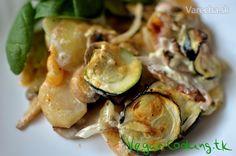 Zapečená cuketa so zemiakmi (fotorecept) Veggie Recipes, Veggie Food, Sprouts, Zucchini, Vegetables, Vegetarian Food, Vegetable Recipes, Vegetable Recipes, Vegetarian Meals