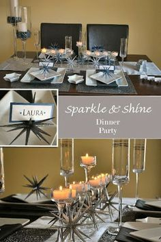 Sparkle and shine dinner party