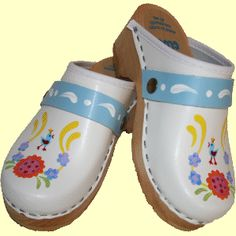 White Klara, Snap Strap with your choice of Strap, Tessa Clog