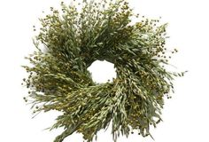 "24"" Avena & Flax Wreath"