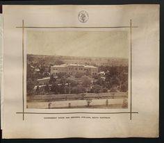Description: Government House and Grounds, Adelaide, South Australia.    Location: Adelaide, South Australia, Australia    Date: 1876