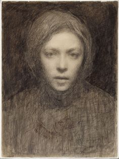 Ellen Thesleff (Finnish artist) 1869 - 1952 Omakuva (Self-Portrait)She became a member of a group of Finnish artists influenced by the Symbolist movement in Paris. Helene Schjerfbeck, Self Portrait Drawing, Portrait Art, Figurative Art, Female Art, Painting & Drawing, Art History, Art Drawings, Illustration Art