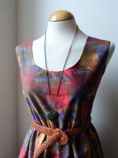 ♥ Batik Tie Dye Longer Length Cotton Boho Dress...just listed, $30.00 ♥
