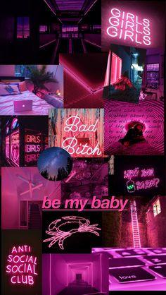 Pink Neon Wallpaper, Iphone Wallpaper Cat, Bad Girl Wallpaper, Mood Wallpaper, Iphone Wallpaper Tumblr Aesthetic, Retro Wallpaper, Aesthetic Pastel Wallpaper, Aesthetic Wallpapers, Cute Patterns Wallpaper