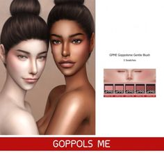 Gentle Blush by GOPPOLS Me for The Sims 4