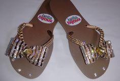 sandals, flip flop, sandalias decoradas