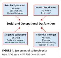 """The schizophrenic mind is not so much split as shattered. I like to say schizophrenia is like a waking nightmare."" -Elyn Schizophrenia is a severe, deb Schizophrenia Symptoms, Cognitive Therapy, Executive Functioning, Decision Making, Psych, Infographics, Nursing, Mental Health, Depression"