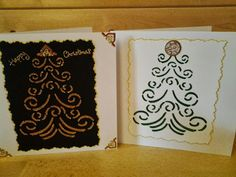 Started my xmas cards using the lovely Glitzcraft paste and stencils