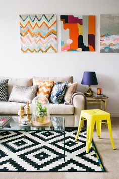 Add texture to your home decor by mixing up materials and patterns.