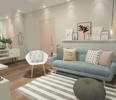 """1,157 curtidas, 32 comentários - Interiores e Arquitetura (@criarinteriores) no Instagram: """"Boa noite! Um quarto com toques de rose a pedidos da cliente que gostaria de uma decoração feminina…"""""""