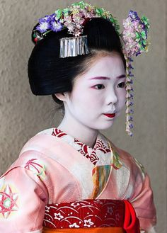 A Minarai. Notice her bottom lip and the hair ornament with the dangling pieces of folded silk