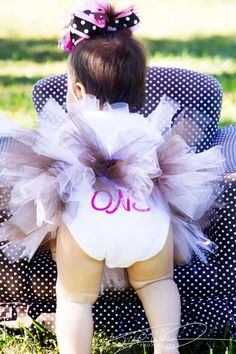 First 1st first birthday photoshoot pose idea cute tutu bow polka dot love baby girl photography www.facebook.com/dmvphoto