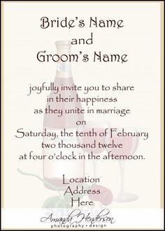 samples of wording for wedding invitations - Adults Only Wedding Invitation Wording