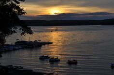 Our docks at sunset on Lake Wallenpaupack
