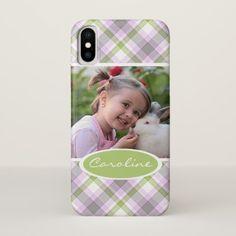 #Custom Cute Trending Popular Tartan Plaid Pattern iPhone X Case - #trendy #chic