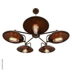 lnc wire cage ceiling lights 3 light pull string flush. Black Bedroom Furniture Sets. Home Design Ideas