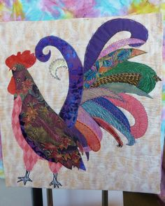 Strutting His Stuff as the Elegant Rooster by Sally Stratton, Sew Uniquely You, Spokane WA
