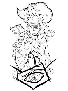 Naruto Sketch Drawing, Naruto Drawings, Anime Drawings Sketches, Tatoo Naruto, Naruto Art, Japanese Tattoo Designs, Japanese Tattoo Art, Tattoo Design Drawings, Tattoo Sketches