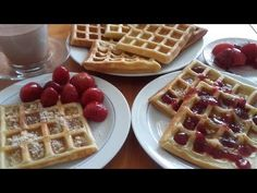 Vafe foarte gustoase - belgian gofre - How to make vafe homemade step by step - Våffle - waffe - Gaufre Waffles, Gem, Homemade, Breakfast, How To Make, Youtube, Morning Coffee, Home Made, Waffle