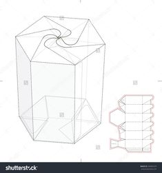Hexagonal Push Lock Tube Retail Box With Die Cut Template Stock Vector Illustration 349081679 : Shutterstock