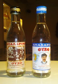 ouzo Chios, Wine And Spirits, Greek Recipes, Beer Bottle, Wines, Greece, Food And Drink, Alcohol, Good Things