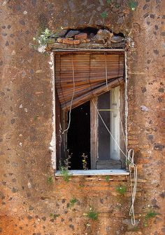 the sad window (la finestra triste) by Alberta Dionisi Abandoned Houses, Abandoned Places, Old Houses, Old Windows, Windows And Doors, Window Dressings, Window View, Through The Window, Old Doors