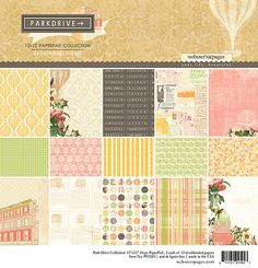 """Websters Pages """"Park Drive"""" 12x12 Paper Pad - (24) 12x12 Double Sided Papers"""