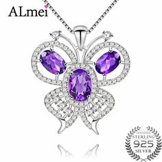 CS-DB Silver 1.2ct Oval Natural GarnetPendants Necklaces For Womens