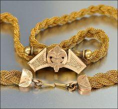 Gold Fill Victorian Necklace Antique Jewelry Fleur de Lis  #Vintage #Jewelry
