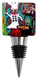 What's cookin with you this weekend?   Gumbo Ya Ya art  of Sharon Furrate on this fun bottle stopper is a good gift for any chef!