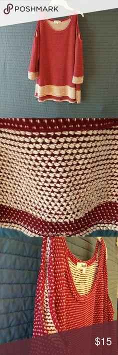 Sweater Open arm knit angelas Tops Tunics