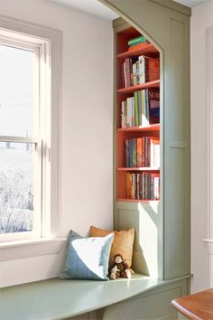 Photo: Eric Roth | thisoldhouse.com | from Inside Job: Bookcases With a Color Pop