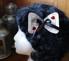 Queen of Hearts Playing Card Hairbow