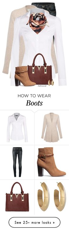 """""""H & M Boots"""" by houston555-396 on Polyvore featuring R13, Kinross, Dorothy Perkins, Joanna Allsop, H&M and House of Harlow 1960"""