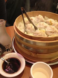The best soup dumplings ever. It's not the prettiest place, communal seating and florescent lighting - but all worth it to spend $20 on beer and dumplings for 2.