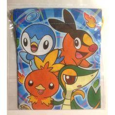 Pokemon Center 2012 Snivy Tepig Oshawott Squirtle & Friends Drawstring Dice Bag