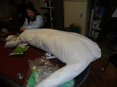 How to make a spider cocoon victim on Halloween Forum