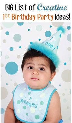24 Creative Ideas for a 1st Birthday Party… on a Budget! ~ from TheFrugalGirls.com #first #birthday #parties