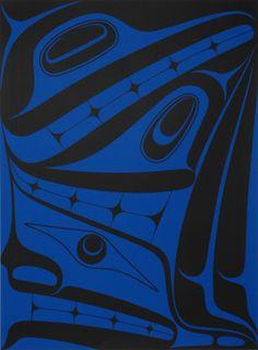 Shadows (2010) by Robert Davidson, #artist from Haida Gwaii