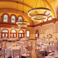 """The old train station incorporated both the """"journey"""" theme and the vintage feel the couple was after."""