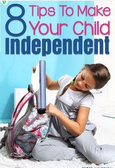 8 Tips To Make Your Child Independent #Parenting #Trusper #Tip