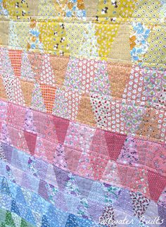 Saltwater Quilts    I love the color