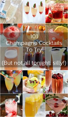 101+ Champagne Cocktails to Try - You have one New Year's Eve a year. Make it count!  No, we don't mean you should try them all tonight. Just check out our list and choose a few, silly!