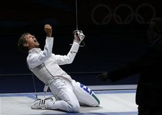 http://www.MilitaryGradeNutritionals.com/blog  QUALITY REPEAT - Italy's Andrea Baldini celebrates his team's victory at the end of his men's foil team gold medal fencing match against Japan's Yuki Ota at the ExCel venue at the London 2012 Olympic Games August 5, 2012.