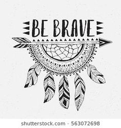 Boho template with inspirational quote lettering – be brave. Vector ethnic print… Boho template with inspirational quote lettering – be brave. Vector ethnic print design with dreamcatcher. Doodle Art Designs, Easy Doodle Art, Doodle Art Drawing, Cool Art Drawings, Drawing Quotes, Zentangle Drawings, Pencil Art Drawings, Simple Doodles Drawings, Sketchbook Drawings