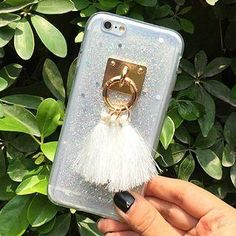 #YesStyle - #Gadget City Tassel Glittered Phone Case - iPhone 6 / 6 Plus - AdoreWe.com