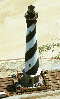 Cape Hatteras Lighthouse being moved, watched a part of this in cant remember which year. Carolina Usa, North Carolina, Nc Lighthouses, Cape Hatteras Lighthouse, Lighthouse Lighting, Outer Banks Nc, Hatteras Island, Beacon Of Light, Light House