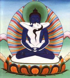 Primordial Buddha Samantabhadra, in union with Samantabhadri, depicting the Union of Compassion (Male) and Wisdom (Female)!!
